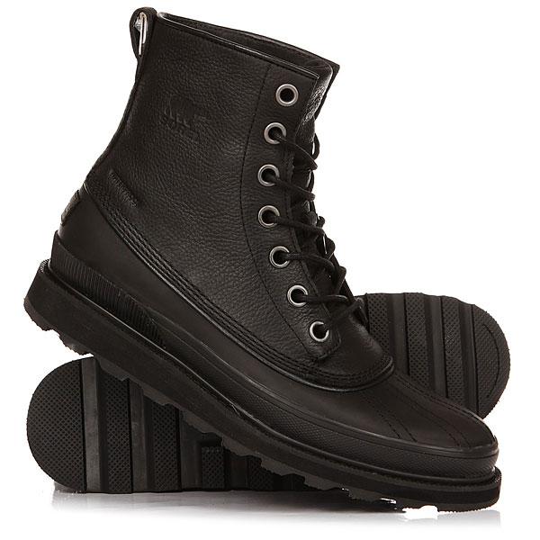Ботинки высокие Sorel 1964 Waterproof BlackКлассические ботинкиMadson 1964 сочетают в себе стильное наследие Sorel и современную функциональность. Изготовлены из водонепроницаемой кожи и литой резиновой конструкции. Стелька из пены EVA с супинатором и цепкая каучуковая подошва с протектором. В суровую зимнюю погоду эти ботинки обеспечат абсолютную защиту от влаги, холода и грязи.Характеристики:Верх: водонепроницаемая крупнозернистая кожа. Герметичная водонепроницаемая конструкция. Синтетическая подкладка. Съемная стелька из пены EVA с супинатором и функцией памяти. Подошва: подошва из пены EVA и формованной резины.<br><br>Цвет: черный<br>Тип: Ботинки высокие<br>Возраст: Взрослый<br>Пол: Мужской