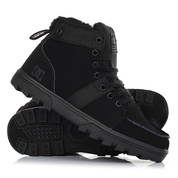 Ботинки зимние женские DC Shoes Woodland Black
