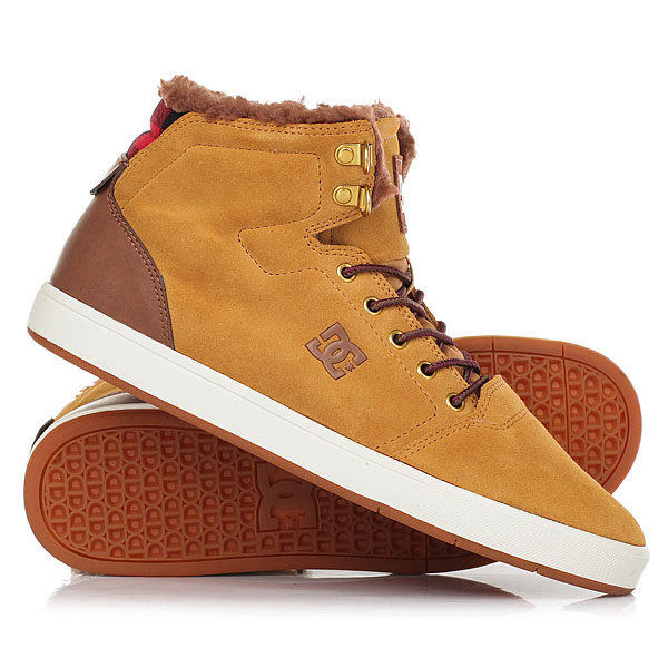 Кеды кроссовки зимние DC Shoes Crisis High Wnt Wheat/Dk Chocolate dc shoes ботинки crisis high wnt