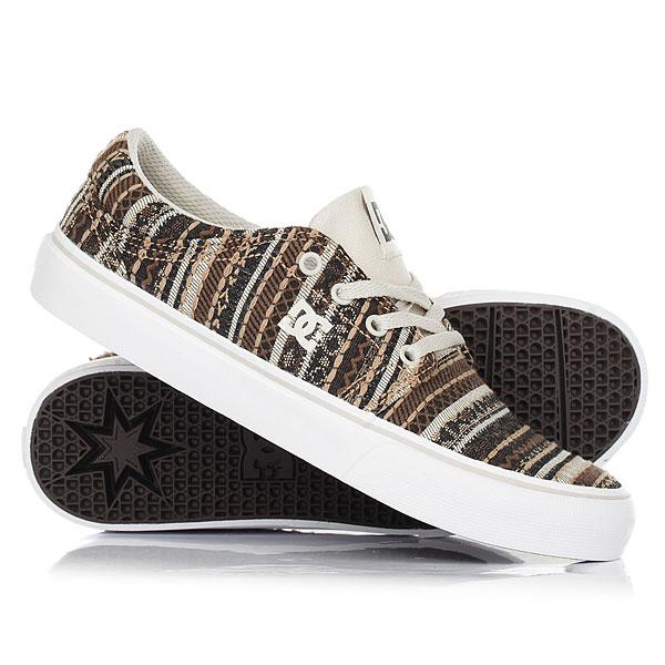 Кеды кроссовки низкие женские DC Shoes Trase Tx Le Tan/BrownКлассика от DC со слегка измененным дизайном. Без сомнения, это одна из самых узнаваемых и комфортных моделей скейтовых кед. Лаконичный дизайн, не перегруженный лишними деталями, комфортная и цепкая подошва, высококачественный текстиль, все в этой модели направлено на то, чтобыВаше катание приносило лишь положительные эмоции.Характеристики:Чистый бесшовный дизайн носа.Фирменный цепкий протектор Pill Pattern. Вулканизированная конструкция подошвы. Нашивка с фирменным логотипом на язычке. Металлические люверсы шнуровки. Плоские шнурки. Нанесенный сбоку фирменный логотип. Резиновый логотип на задней части подошвы.<br><br>Цвет: коричневый,бежевый<br>Тип: Кеды низкие<br>Возраст: Взрослый<br>Пол: Женский