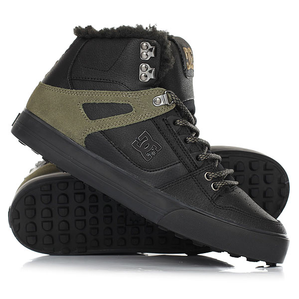 Кеды кроссовки зимние DC Shoes Spartan Hi Wnt Black/Olive dc shoes зимние кеды dc shoes spartan high wc wnt black olive fw17 9