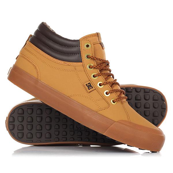 Кеды кроссовки зимние DC Shoes Evan Hi Wnt Wheat кеды кроссовки высокие женские dc evan hi tx se denim