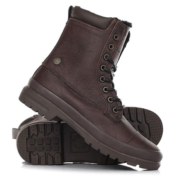 Ботинки зимние женские DC Shoes Amnesti Wnt Brown/ChocolateКлассические ботинки Amnesti WNT от DC сочетают в себе стиль и современную функциональность. Верх из кожи высшего качества, подкладка из шерпы, вулканизированная конструкция подошвы - это необходимые составляющие качественной и комфортной обуви. За счет универсального дизайна их можно сочетать с любым зимним образом.Характеристики:Верх из кожи высшего качества.Подкладка из шерпы. Язычок с эластичными вставками. Застежка на молнии. Вулканизированная конструкция подошвы. Подошва с фирменным рисунком протектора DC Pill Pattern. Металлическая пряжка с фирменным логотипом.<br><br>Цвет: коричневый<br>Тип: Ботинки зимние<br>Возраст: Взрослый<br>Пол: Женский
