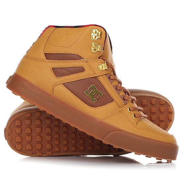 Кеды кроссовки высокие DC Shoes Spartan Hi Wnt Wheat/Black/Dk Choco кеды кроссовки высокие dc spartan high wc black used