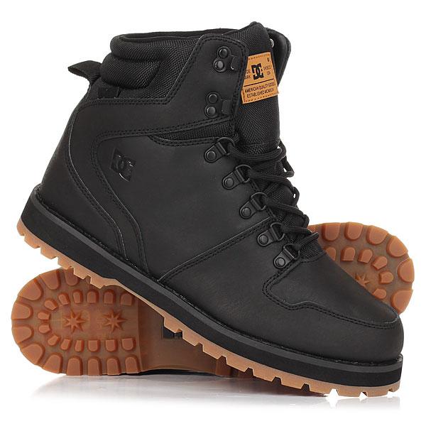 Ботинки высокие DC Peary Black/GumDC Peary - надежные ботинки на прочной резиновой подошве с выраженным протектором. Основательный силуэт, усиленные область пятки и носа, а также прочная кожа с влагостойкой обработкой делают эти ботинки идеальным решением для промозглой слякотной погоды, позволяя составить стильный городской лук, наполненный комфортом и уютом.Характеристики:Металлические крючки и петли шнуровки. Усиленная пятка и нос. Манжета ботинка и часть язычка из прочной тканиCORDURA®.Наполненные вспененным материалом манжета и язычок ботинка для комфорта. Фирменный логотип на язычке и сбоку ботинка. Цепкий выраженный протектор. Стелька из вспененного материала EVA. Единая конструкция ботинка и язычка для предотвращения попадания внутрь снега. Износостойкая резиновая подошва. Влагоотталкивающая обработка поверхности.<br><br>Цвет: черный<br>Тип: Ботинки высокие<br>Возраст: Взрослый<br>Пол: Мужской