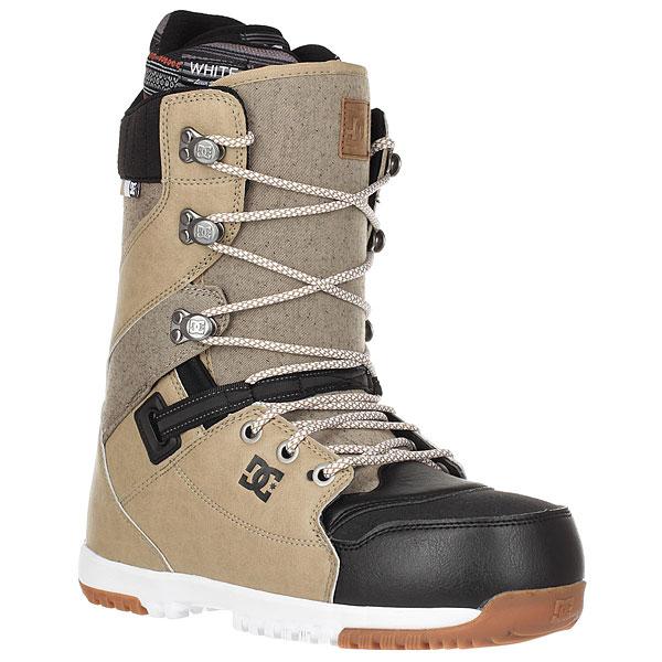 Ботинки для сноуборда DC Mutiny BrownСтильные технологичные ботинки MUTINY созданы для комфортного катания и отличной поддержки. Система эффективной шнуровки Direct Power Lacing для быстрой фиксации, мягкий лайнер и подошва из вспененного материала Contact Unilite, который гарантирует отличную амортизацию, а внутренние тросы-утяжки в районе лодыжки для дополнительной поддержкиноги. Если Вы любите скорость, тоботинки MUTINY для Вас!Характеристики:Жесткость: 6/10. Система эффективной шнуровки Direct Power Lacing. Внутренник White. Стелька Impact-S. Внутренние тросы-утяжки в районе лодыжки. Фурнитура Wrap Lock для фиксации шнуровки.Подошва Contact Unilite. Фирменный логотип нанесен сбоку ботинка.Нашивка с фирменным логотипом на язычке. Верхние металлические крючки шнуровки с фирменным логотипом.<br><br>Цвет: бежевый,черный<br>Тип: Ботинки для сноуборда<br>Возраст: Взрослый<br>Пол: Мужской
