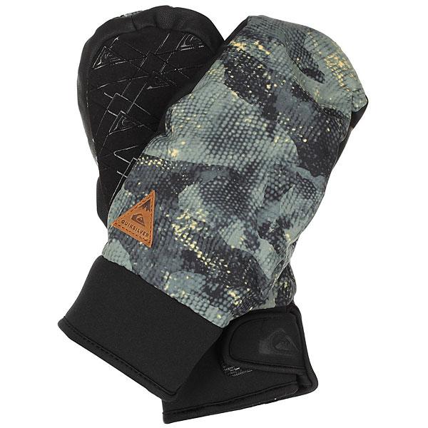 Варежки сноубордические Quiksilver Method AnicamoУтепленные сноубордические перчатки Quiksilver Method эргономичной изогнутой формы. Короткий регулируемый манжетиз неопрена,ладонь с силиконовым покрытием, вставки из мембранного материала DryFlight®, утеплитель Warmflight® - гарантия надежной защиты от холода, ветра и влаги. Характеристики:Водостойкая и дышащая ткань. Водонепроницаемые вставки DryFlight®.Утеплитель Warmflight® 110 г.Эргономичный изогнутый крой с неопреновым манжетом. Регулируемый манжет на липучке. Эластичный лиш. Силиконовый принт на ладони для лучшего сцепления.Совместимы с тачскринами.<br><br>Цвет: черный,зеленый<br>Тип: Варежки сноубордические<br>Возраст: Взрослый<br>Пол: Мужской