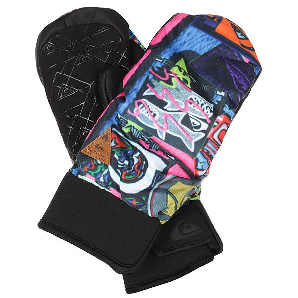 Варежки сноубордические Quiksilver Method Quiky Print GlovesУтепленные сноубордические перчатки Quiksilver Method эргономичной изогнутой формы. Короткий регулируемый манжетиз неопрена,ладонь с силиконовым покрытием, вставки из мембранного материала DryFlight®, утеплитель Warmflight® - гарантия надежной защиты от холода, ветра и влаги. Характеристики:Водостойкая и дышащая ткань. Водонепроницаемые вставки DryFlight®.Утеплитель Warmflight® 110 г.Эргономичный изогнутый крой с неопреновым манжетом. Регулируемый манжет на липучке. Эластичный лиш. Силиконовый принт на ладони для лучшего сцепления.Совместимы с тачскринами.<br><br>Цвет: черный,мультиколор<br>Тип: Варежки сноубордические<br>Возраст: Взрослый<br>Пол: Мужской
