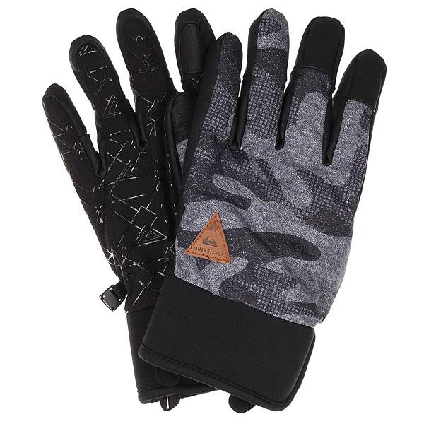 Купить со скидкой Перчатки Quiksilver Method Glove Black Grey Camokazi