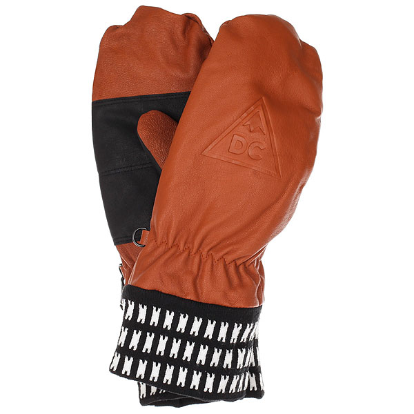 Варежки DC Supply Mitt Leather Brown варежки женские roxy victoria mitt hawaian ocean