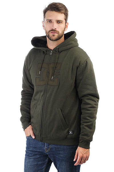 Толстовка утепленная DC Shoes Star Sherpa 3 Olive dc shoes кеды dc heathrow se 11