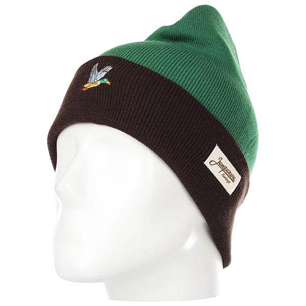 Шапка Запорожец Ditch Dark Green/Brown шапка запорожец big ditch 86 pom blue