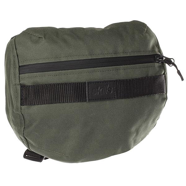 Сумка поясная Skills Fixed Bag ХакиКомпактная сумка Fixed Bag создана для активного образа жизни. Сумка имеет специальный ремешок для удобной фиксации, благодаря чему можно спокойно бегать или кататься на велосипеде и не беспокоиться о содержимом вашей сумки.Технические характеристики: Материал oxford 600D.Водоотталкивающая пропитка.Удобная система фиксации без лишних ремешков.Обхват основного ремешка 82-120 см.Основное отделение на прорезиненной молнии.Задний карман на молнии.<br><br>Цвет: зеленый<br>Тип: Сумка поясная<br>Возраст: Взрослый<br>Пол: Мужской