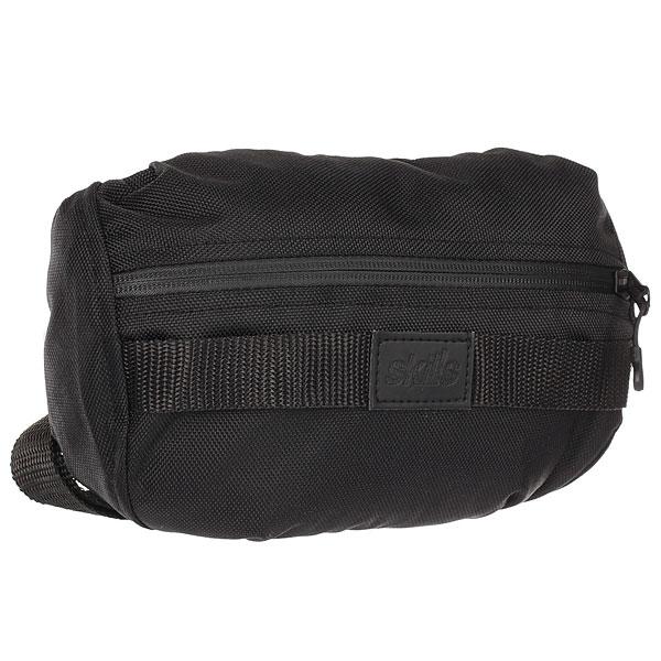 Сумка поясная Skills Bag ЧерныйКомпактная сумка для самых необходимых вещей. Подойдет для спорта, активного отдыха и на каждый день.Технические характеристики: Материал oxford 600D.Водоотталкивающая пропитка.Удобная система фиксации без лишних ремешков.Обхват ремешка 82-120 см.Основное отделение на прорезиненной молнии.Задний карман на молнии.<br><br>Цвет: черный<br>Тип: Сумка поясная<br>Возраст: Взрослый<br>Пол: Мужской