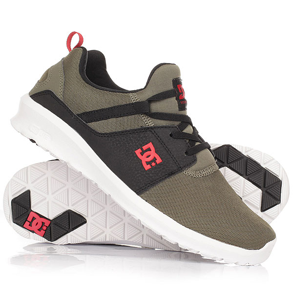 Кроссовки детские DC Shoes Heathrow Olive/Black dc shoes кеды dc heathrow 8