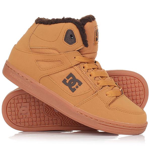 Кеды кроссовки зимние DC Shoes Rebound Wnt Wheat<br><br>Цвет: коричневый<br>Тип: Кеды зимние<br>Возраст: Взрослый<br>Пол: Мужской