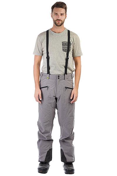 Штаны сноубордические Quiksilver Boundry Pl Grey HeatherУдобные современные штаны для катания должны обладать хорошей мембранной тканью, продуманным кроем, необходимыми карманами и вентиляцией с сетчатыми вставками. И эти Quiksilver Boundry именно такие. А еще у них есть высокая юбка для защиты от снега, пояс с регулировкой размера, тройная система застегивания и проклеенные швы. Да, это детская модель, но все ее характеристики - вполне взрослые.Характеристики:Стандартный крой. Мембрана: водостойкая 10K Quiksilver DryFlight®.Материал: синтетический оксфорд. Проклеенные в стратегических местах швы. Подкладка: тафта + мягкая вставка из трикотажа с начесом с изнанки пояса. Вентиляция с сетчатыми вставками. Юбка для защиты от снега.Система пристегивания штанов к куртке. Пояс на утяжке для регулировки размера. Тройная система застегивания. Два кармана для рук с доступом на молнии.Держатель для ски-паса. Снегозащитные гетры.<br><br>Цвет: серый<br>Тип: Штаны сноубордические<br>Возраст: Взрослый<br>Пол: Мужской