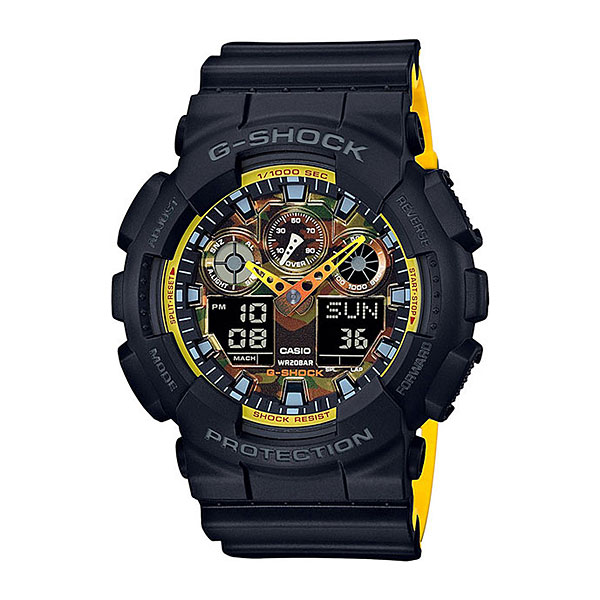 Кварцевые часы Casio G-Shock G-shock ga-100by-1a casio g shock ga 100l 1a