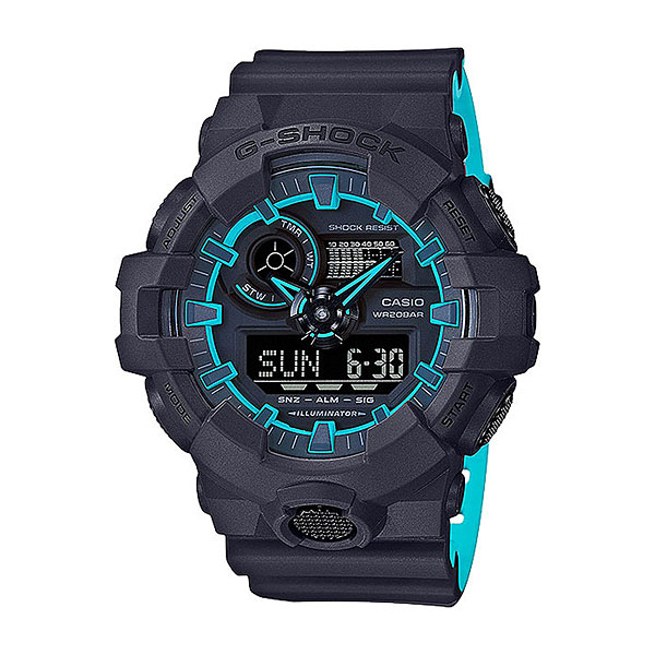 Кварцевые часы Casio G-Shock ga-700se-1a2Многофункциональные наручные часы в прочном корпусе из полимерного пластика для активного образа жизни. Качественные материалы, расширенный набор опций и спортивный дизайн.Технические характеристики: Сверхъяркая подсветка.Ударопрочная конструкция защищает от ударов и вибрации.Функция мирового времени.Функция секундомера- 1/100 сек. - 24 часа.Таймер - 1/1 мин. - 1 час.5 ежедневных будильников.Функция повтора будильника.Включение/выключение звука кнопок.Функция перемещения стрелок.Автоматический календарь.12/24-часовое отображение времени.Минеральное стекло.Корпус из полимерного пластика.Ремешок из полимерного материала.Срок службы аккумулятора - 5 лет.<br><br>Цвет: черный<br>Тип: Кварцевые часы<br>Возраст: Взрослый<br>Пол: Мужской