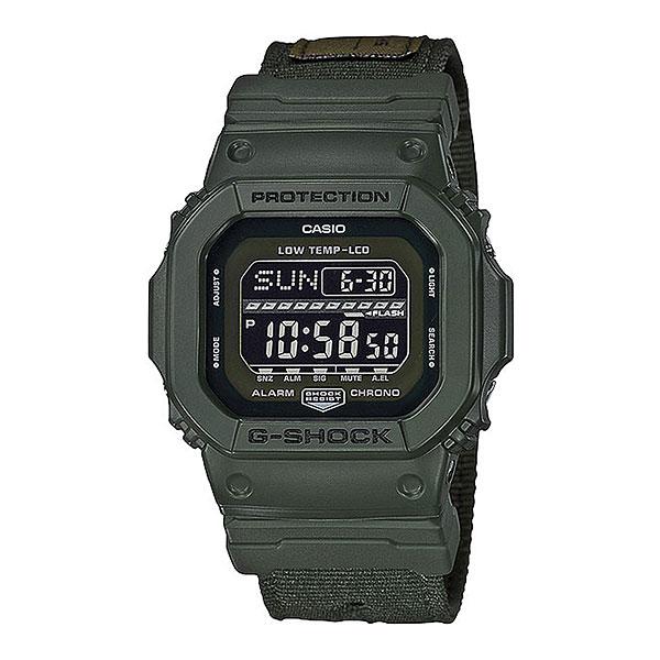 Кварцевые часы Casio G-Shock gls-5600cl-3eНовинка из серии G-LIDE со стильным текстильным ремешком. Отличные часы на каждый день, выполненные в стиле моделей из 90-х годов.Технические характеристики: Электролюминесцентная подсветка.Ударопрочная конструкция защищает от ударов и вибрации.Световая индикация сигнала.Автоматическая подсветка.Устойчивы к низким температурам до -20 °C.Функция мирового времени.Двойной секундомер 1/100 сек. - 1000 часов.Таймер - 1/1 мин. - 24 часа ( с автоматическим повтором).Включение/выключение звука кнопок.12/24-часовое отображение времени.Минеральное стекло.Корпус из полимерного пластика.Ремешок из ткани.Срок службы аккумулятора - 3 года.<br><br>Цвет: Темно-зеленый<br>Тип: Кварцевые часы<br>Возраст: Взрослый<br>Пол: Мужской