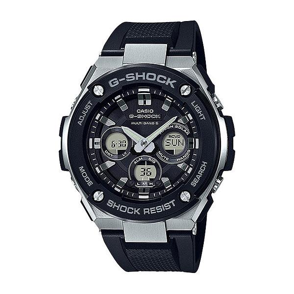 Кварцевые часы Casio G-Shock gst-w300-1aСовременные и функциональные часы для путешественников и активных молодых людей.Технические характеристики: Полностью автоматическая светодиодная подсветка.Ударопрочная конструкция защищает от ударов и вибрации.Солнечная батарейка.Прием радиосигнала (Европа, США, Япония, Китай).Неоновый дисплей.Функция мирового времени.Функция секундомера - 1/100 сек. - 1 час.Таймер – 1/1 сек. – 100 минут.5 ежедневных будильников.Функция перемещения стрелок.Включение/выключение звука кнопок.Автоматический календарь.12/24-часовое отображение времени.Минеральное стекло.Корпус из нержавеющей стали и полимерного пластика.Ремешок из полимерного материала.Индикатор уровня заряда батарейки.<br><br>Цвет: черный<br>Тип: Кварцевые часы<br>Возраст: Взрослый<br>Пол: Мужской