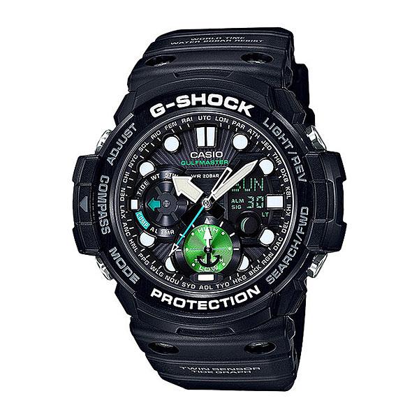 Кварцевые часы Casio G-Shock Premium gn-1000mb-1aЧасы, созданные специально для серферов и путешественников. Стильный, спортивный дизайн, качественные материалы и необходимые функции для незабываемого отдыха.Технические характеристики: Сверхмощная полностью автоматическая светодиодная подсветка.Ударопрочная конструкция защищает от ударов и вибрации.Цифровой компас.Термометр (-10°C / +60°C).Отображение данных о луне.Отображение графика приливов.Функция мирового времени.Функция секундомера - 1/100 сек. - 1 час.Таймер - 1/1 мин. - 1 час.5 ежедневных будильников.Функция перемещения стрелок.Включение/выключение звука кнопок.Автоматический календарь.12/24-часовое отображение времени.Минеральное стекло.Корпус из полимерного пластика.Ремешок из полимерного материала.Срок службы аккумулятора - 2 года.<br><br>Цвет: черный<br>Тип: Кварцевые часы<br>Возраст: Взрослый<br>Пол: Мужской