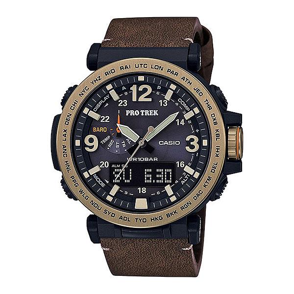 Кварцевые часы Casio Sport prg-600yl-5eМультифункциональные наручные часы, которые отличаются не только стильным и сдержанным дизайном, но и достаточно широким набором опций. Часы, созданные для работы, путешествий и активного отдыха.Технические характеристики: Двойная светодиодная подсветка.Устойчивый к низким температурам (-10 °C).Солнечная батарейка.Неоновый дисплей.Барометр (260 / 1.100 гПа).Термометр (-10°C / +60°C).Цифровой компас.Высотометр 10,000 м.Память данных высотометра.График набора высоты.Функция мирового времени.Функция секундомера- 1/100 сек. - 24 часа.Таймер - 1/1 сек. - 1 час.5 ежедневных будильников.Включение/выключение звука кнопок.Автоматическая ручная настройка.Функция перемещения стрелок.Технология Smart Access - часы быстро и интуитивно просто настраиваются с помощью электронного штифта.Автоматический календарь.12/24-часовое отображение времени.Минеральное стекло.Корпус из полимерного пластика.Ремешок из искусственной кожи.Индикатор уровня заряда батарейки.<br><br>Цвет: черный<br>Тип: Кварцевые часы<br>Возраст: Взрослый<br>Пол: Мужской