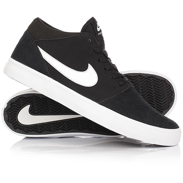 Кеды кроссовки высокие Nike SB Portmore II Solar Mid Black/White сефер мишне берура часть ii истолкованное учение