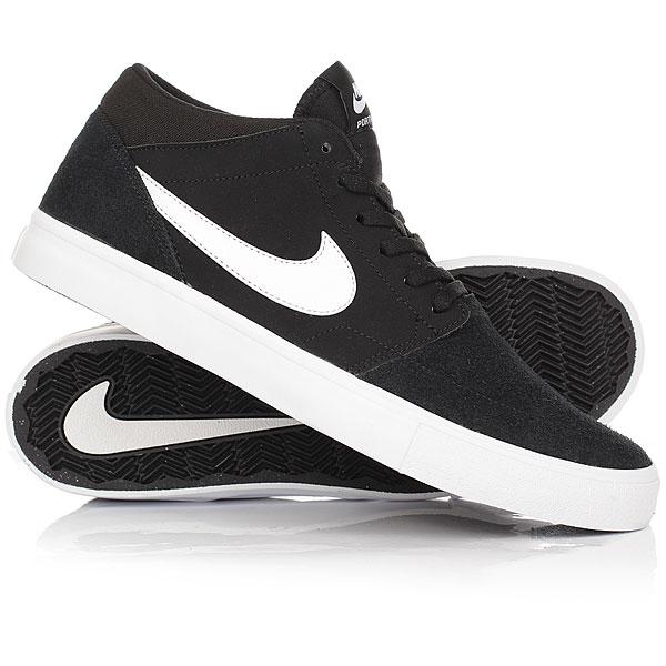 Кеды кроссовки высокие Nike SB Portmore II Solar Mid Black/White кеды кроссовки высокие dc council mid black armor white