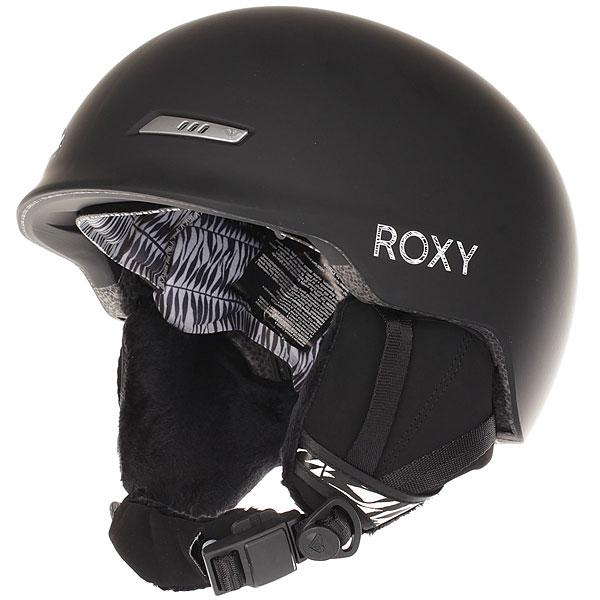 Шлем для сноуборда женский Roxy Angie Black SavannaПростой и удобный защитный шлем от Roxy поможет Вам оставаться на склоне стильной, пребывая в максимальной безопасности. Литой и прочный пластик с пеной EPS, мягкая подкладка из флиса шерпа, съемные накладки на уши и удобный подбородочный ремень с магнитной застежкой Fidlock®, которую легко использовать даже одной рукой в перчатке или варежке. Современная конструкция, приятный внешний вид - идеальное сочетание.Характеристики:Основной материал: двойной микрошелл сверхлегкой литой конструкции. Пассивная вентиляция спереди и сзади. Внутренняя оболочка из пены EVA. Подкладка из сетки и флисовой шерпы. Мягкие термоформованные съемные накладки на уши. Стреп на подбородок выполнен из мягкой шерпы и оснащен застежкой системы Fidlock®.Система регулировки размера.Спецификация: EN1077. Вес: 400 г.<br><br>Цвет: черный<br>Тип: Шлем для сноуборда<br>Возраст: Взрослый<br>Пол: Женский