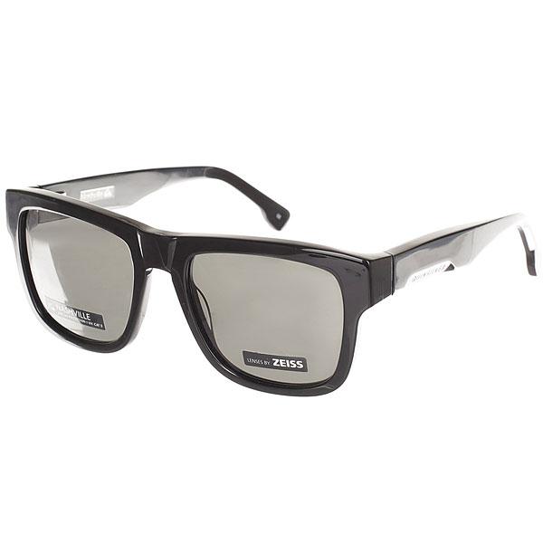Очки Quiksilver Nashville Shiny Black/Grey<br><br>Цвет: серый,черный<br>Тип: Очки<br>Возраст: Взрослый<br>Пол: Мужской