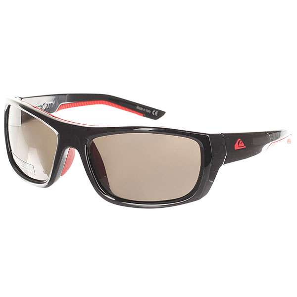Очки Quiksilver Knockout Shiny Black/Red очки корригирующие grand очки готовые 3 5 g1367 c4