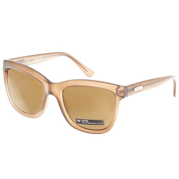Очки женские Roxy Jane Matte Crystal ChampaЖенские солнцезащитные очки Roxy Jane из новой коллекции Roxy.Характеристики:Оправа из пропионата. Ударопрочные линзы из поликарбоната. 100% УФ защита от солнца. Линза 3 категории для превосходной фильтрации в очень солнечную погоду. Сделано в Италии. Защитный чехол из EVA.<br><br>Цвет: бежевый<br>Тип: Очки<br>Возраст: Взрослый<br>Пол: Женский