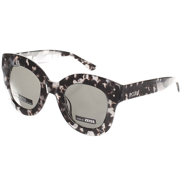 Очки Roxy Ragdoll Shiny Tortoise Black roxy солнцезащитные очки roxy miller shiny black polarized grey ss17
