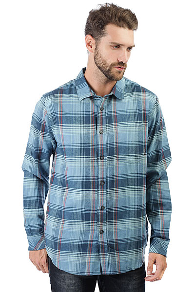 Рубашка в клетку Billabong Coastline Flannel Blue рубашка в клетку insight freedom flannel acdc green