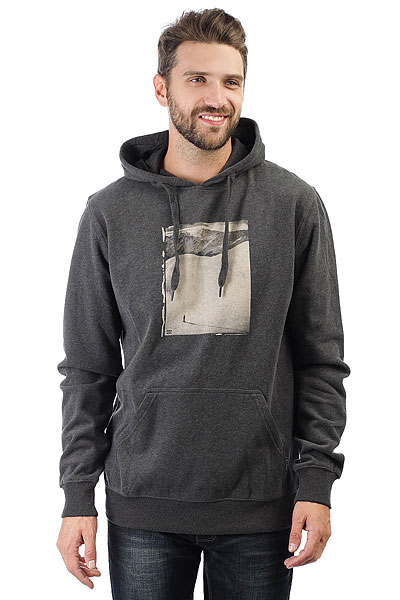 Толстовка классическая Billabong Tanon Hood Black Heather толстовка женская billabong granite zip hoodle 2017 black cherry m