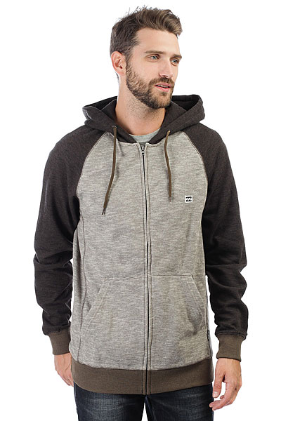 Толстовка классическая Billabong Balance Zip Up Earth Heather толстовка женская billabong granite zip hoodle 2017 black cherry m
