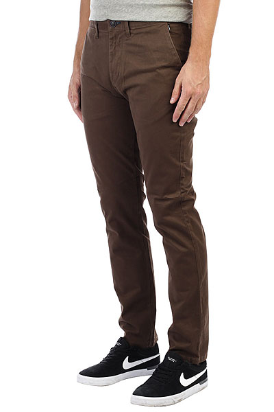 Штаны прямые Billabong New Order Chino Bark штаны прямые детские billabong new order chino camel