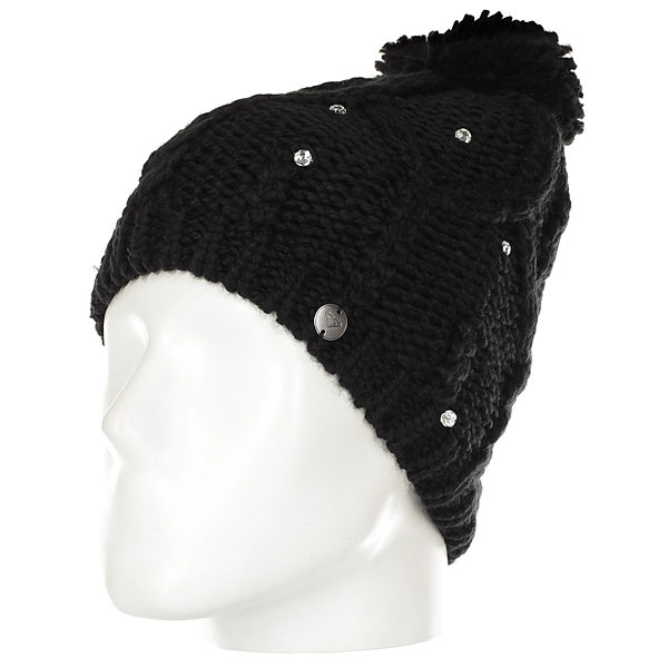 Шапка женская Roxy Shoot Star Bean Hats True Black roxy гейтор roxy winter true black fw17
