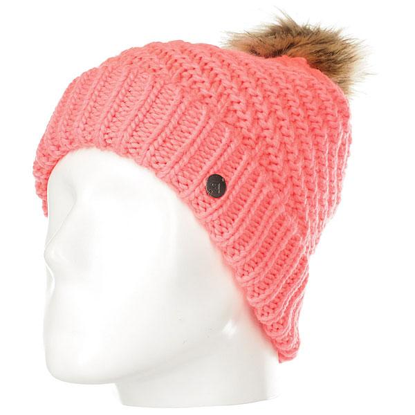 Шапка женская Roxy Blizzard Beanie Hats Neon Grapefruit шапка женская roxy pilot j hats italian plum