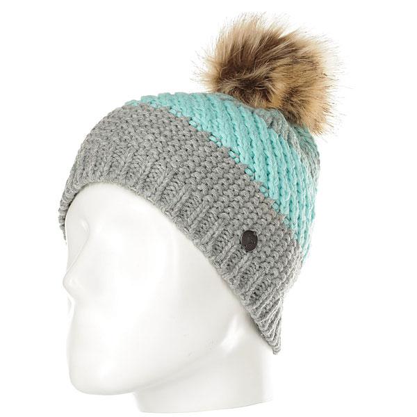 Шапка женская Roxy Hailey Beanie Hats Heritage Heather<br><br>Цвет: серый,голубой<br>Тип: Шапка<br>Возраст: Взрослый<br>Пол: Женский