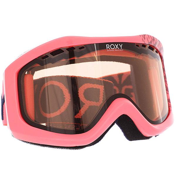 Маска для сноуборда женская Roxy Sunset Neon Grapefruit Sola