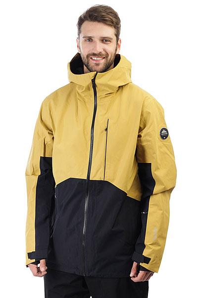 Куртка утепленная Quiksilver Forever Gore Mustard GoldТехнологичная куртка Forever 2L GORE-TEX® входит в премиум линейку Highline от Quiksilver. Сверхпрочная, водонепроницаемая, ветрозащитная и отлично дышащая куртка для самых сложных погодных условий в горах.Используется двухслойной материал с мембраной GORE-TEX®. Полностью проклеенные швы, снегозащитная юбка, функциональные карманы, влагонепроницаемая молния YKK® Aquaguard®, свободный силуэт и вентиляционные вставки для ощущения комфортав продолжительных бэккантри турах.Характеристики:Коллекция Highline. Свободный крой.Регулируемый капюшонудобен при использовании шлема. Мембранная влагостойкаядышащая двухслойная тканьGORE-TEX® 2L. Влагостойкая молнииYKK® Aquaguard®.Без утеплителя. Подкладкаиз тафты с трикотажными вставками и начесом, жаккардовая сетка. Полностью проклеенные швы. Вентиляционные сетчатые вставки в проймах рукавов. Карабин для ключей. Медикарман, карман для ски-пасса.Внутренний карман с фланелью для маски. Система крепления куртки к штанам.Снегозащитная юбка, не отстегивается. Эластичные манжеты с вставкой из лайкры. Надпись Higline на плече. Фирменный логотип.<br><br>Цвет: Светло-коричневый<br>Тип: Куртка утепленная<br>Возраст: Взрослый<br>Пол: Мужской