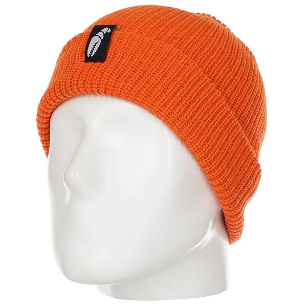 Шапка Crabgrab Claw Label Beanie Orange<br><br>Цвет: оранжевый<br>Тип: Шапка<br>Возраст: Взрослый<br>Пол: Мужской