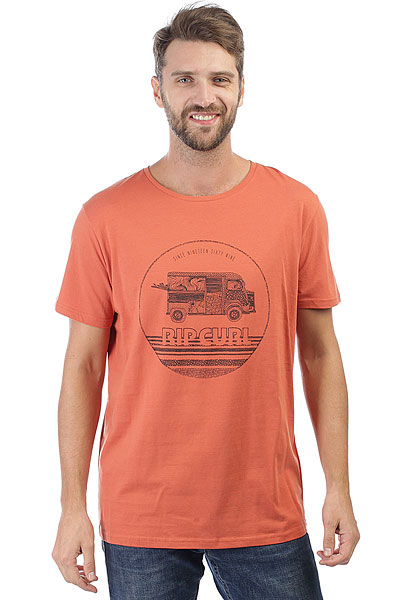 Футболка Rip Curl Van Surf Ginger Spice лифы rip curl лиф sun and surf moulded tri