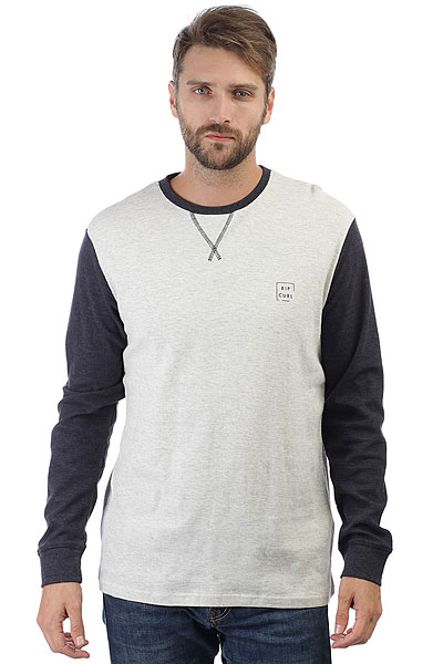 Толстовка свитшот Rip Curl Under Current Ls White Marle толстовка свитшот rip curl beat fleece night sky