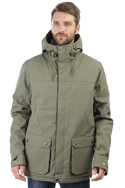 Куртка Rip Curl Highs Anti Series Dusty OliveТканевая куртка Anti Series c закрытой молнией и капюшоном, водонепроницаемый и ветрозащитный материал и 5K/5K мембрана, защищающая от холода, ветра и дождя и в то же время способствующая нормальному тепло- и влагообмену тела, повышенная герметичность швов, внутренний карман для плеера, внутренний сетчатый карман, передние карманы с клапанами и вышивка на рукаве.Характеристики:Стеганая подкладка из тафты. Проклеенные швы. Водонепроницаемые молнии. Фиксированный капюшон с регулировкой. Глубокие внешние карманы для рук. Медиа-карман для плеера. Внутренний сетчатый карман и светоотражающий логотип. Кожаный логотип на рукаве.<br><br>Цвет: зеленый<br>Тип: Куртка<br>Возраст: Взрослый<br>Пол: Мужской