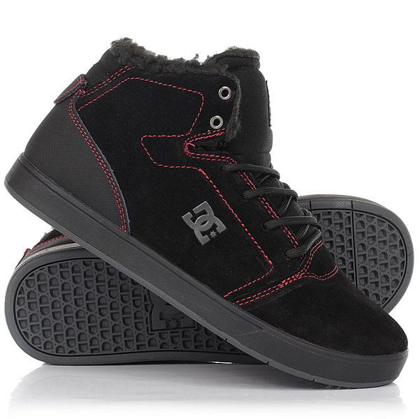 Кеды кроссовки зимние детские DC Crisis High Wnt Black/Red/White dc shoes кеды dc heathrow se 11