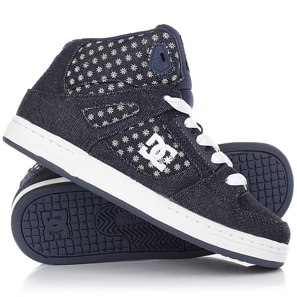 Кеды кроссовки высокие детские DC Rebound Tx Se Denim dc shoes кеды dc shoes rebound high tx se chambray fw17 5