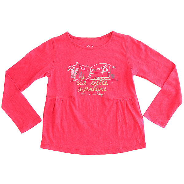Лонгслив детский Roxy Letsdriveaway Azalea<br><br>Цвет: розовый<br>Тип: Лонгслив<br>Возраст: Детский